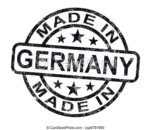 Made In Germany Stamp Shows German Product Or Produce - csp9791900
