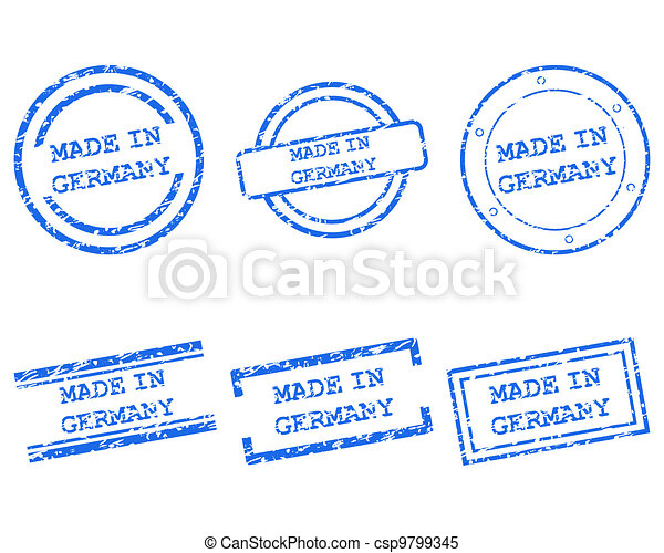 Made in Germany stamps - csp9799345