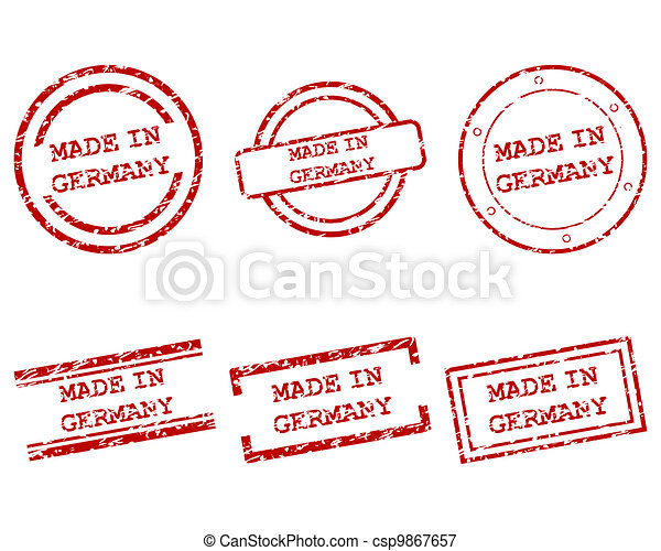 Made in Germany stamps - csp9867657