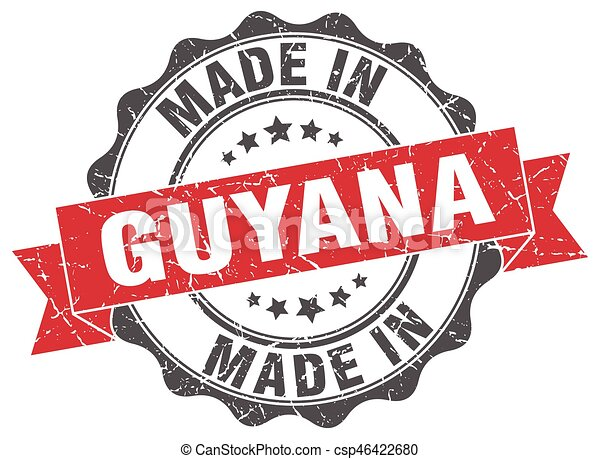 made in Guyana round seal - csp46422680
