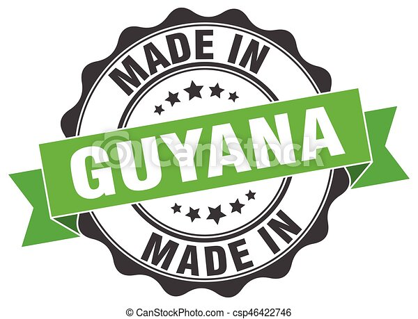 made in Guyana round seal - csp46422746