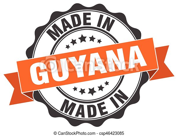 made in Guyana round seal - csp46423085