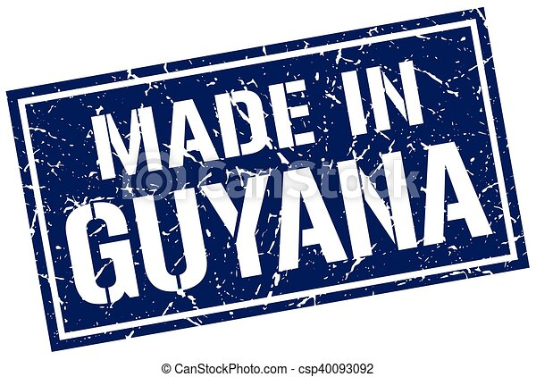 made in Guyana stamp - csp40093092