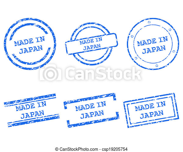 Made in Japan stamps - csp19205754