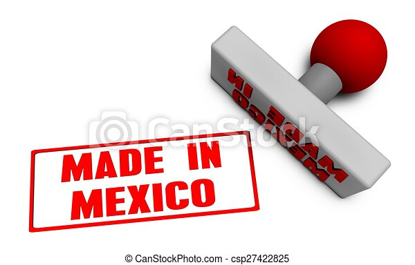 Made in Mexico Stamp - csp27422825