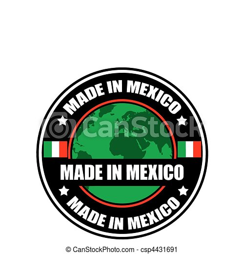 made in mexico made in mexico label vector illustration vector rh canstockphoto com premium tequila made in jalisco mexico logo made in new mexico logo