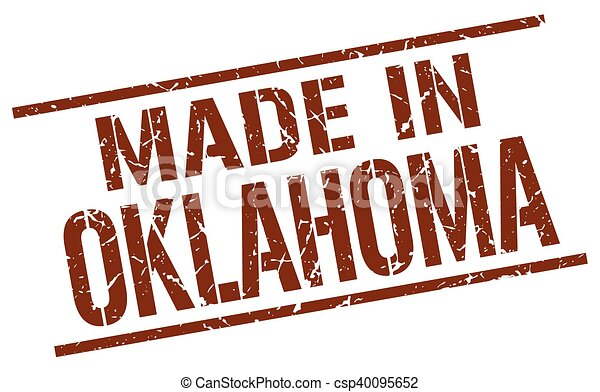 made in Oklahoma stamp - csp40095652