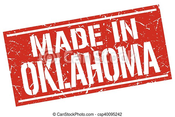 made in Oklahoma stamp - csp40095242