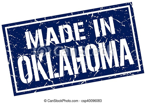 made in Oklahoma stamp - csp40096083