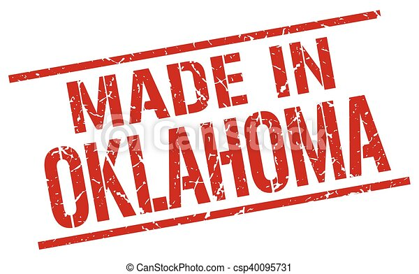 made in Oklahoma stamp - csp40095731