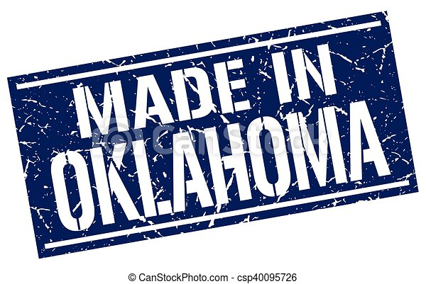 made in Oklahoma stamp - csp40095726