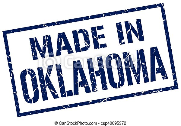 made in Oklahoma stamp - csp40095372