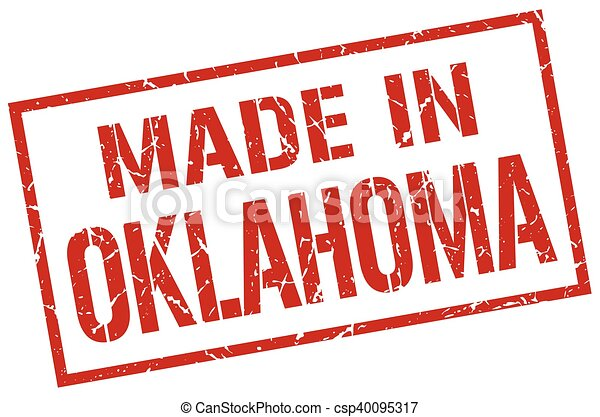made in Oklahoma stamp - csp40095317