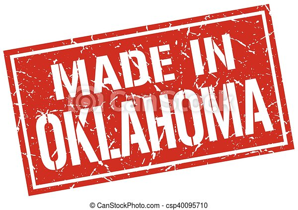 made in Oklahoma stamp - csp40095710