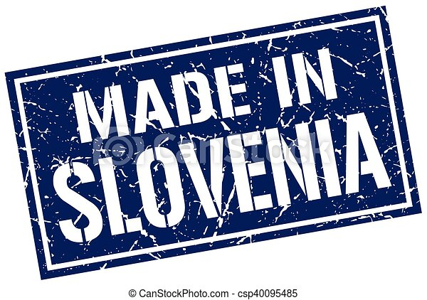 made in Slovenia stamp - csp40095485