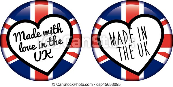 MADE IN THE UK logo badge - csp45653095