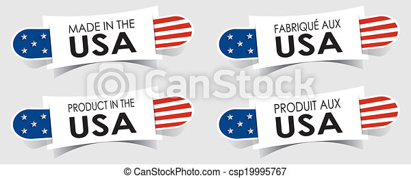 Made in the USA Badges - csp19995767