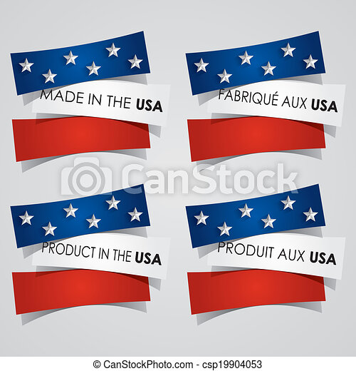 Made in the USA Badges - csp19904053