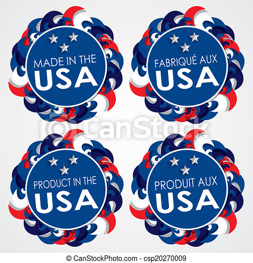 Made in the USA Badges - csp20270009