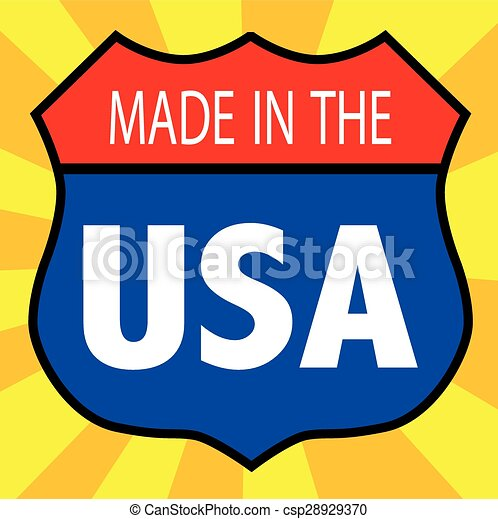 Made In The USA Shield - csp28929370