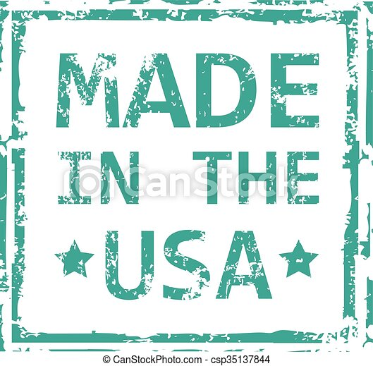 Made in the USA stamp - csp35137844