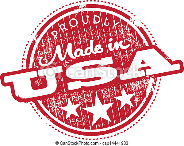 Made in the USA Stamp - csp14441933