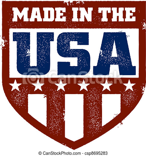 Made in the USA Stamp - csp8695283
