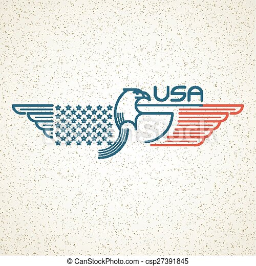 Made In The Usa Symbol With American Flag And Eagle Eps Vector