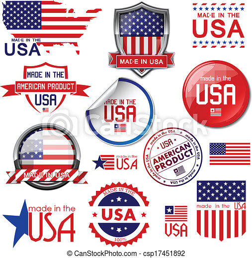 Made in the USA. Vector graphic ico - csp17451892