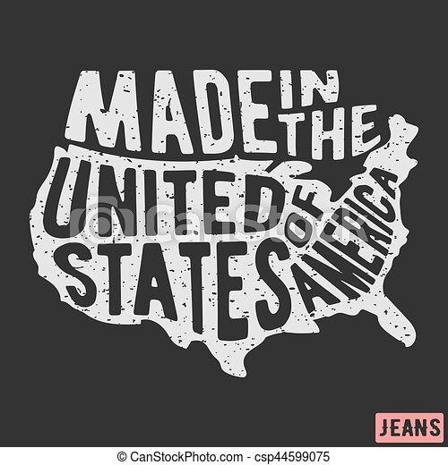 784eaf9b8 T-shirt print design. made in the usa vintage stamp. printing and badge ...