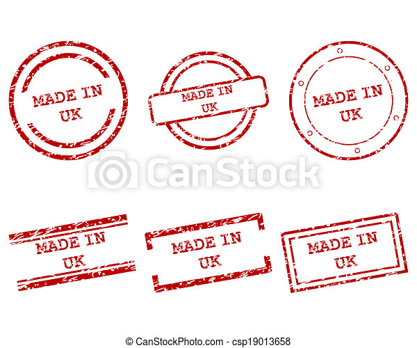 Made in UK stamps - csp19013658