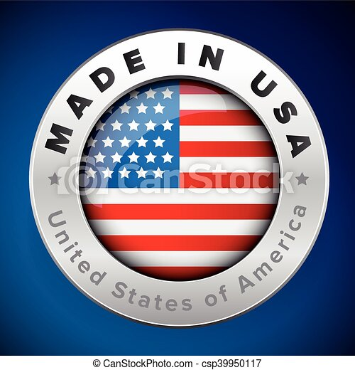Made in USA badge vector - csp39950117