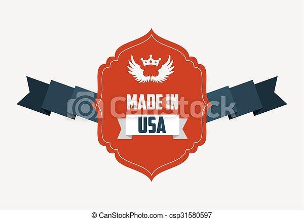 made in usa design - csp31580597