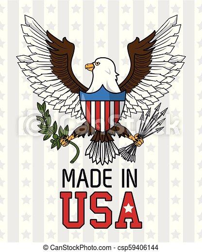 Made in USA emblem - csp59406144