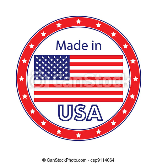 Made in USA Illustration - csp9114064