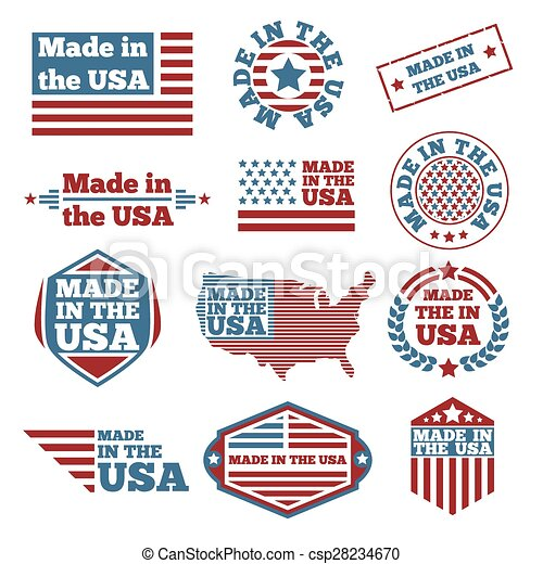 Made in USA labels - csp28234670
