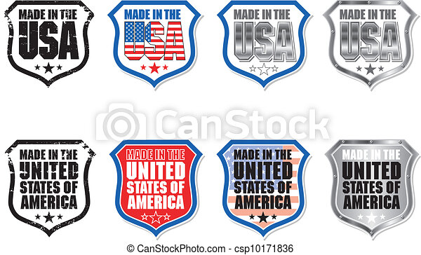 Made in USA Shield Graphic - csp10171836