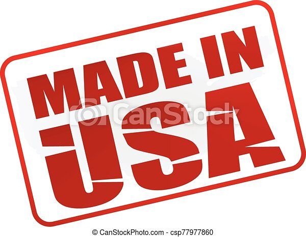 Made in USA stamp - csp77977860
