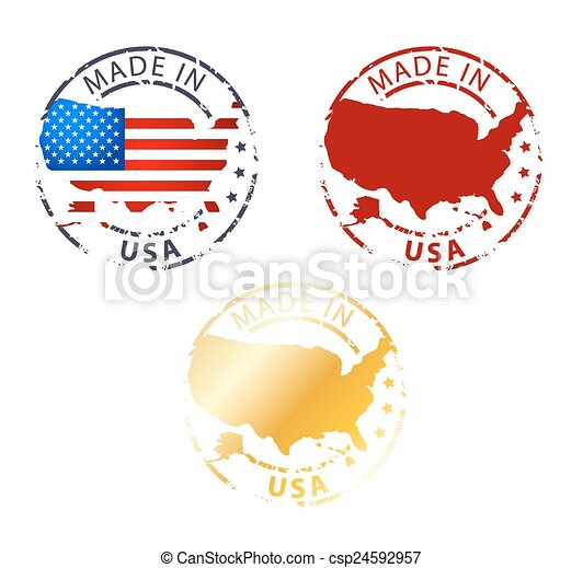 made in USA stamp - csp24592957