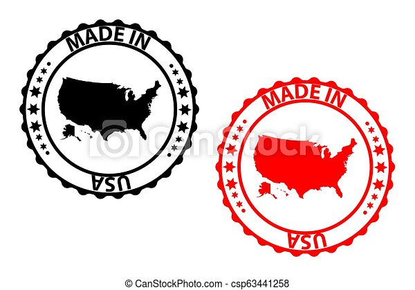 Made in USA stamp - csp63441258