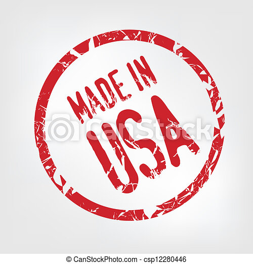 Made in USA stamp - csp12280446