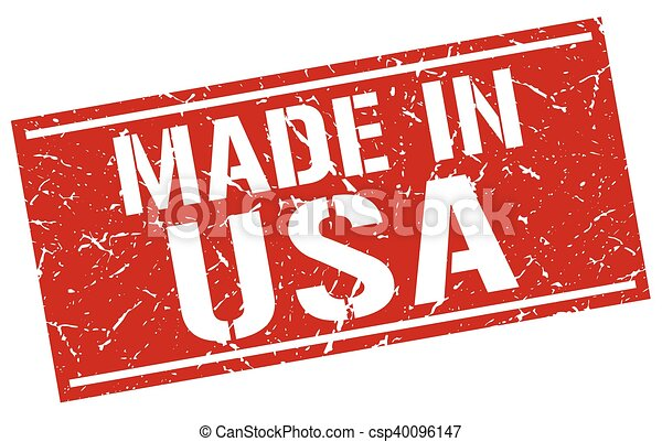 made in usa stamp - csp40096147