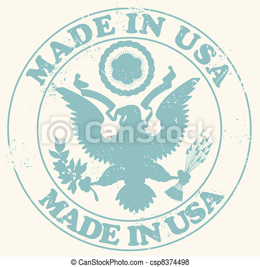 Made in USA stamp - csp8374498