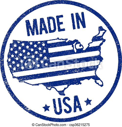 Made in USA stamp - csp36215275
