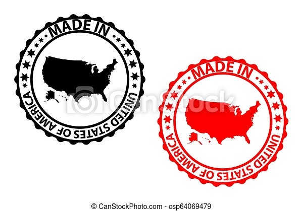 Made in USA stamp - csp64069479