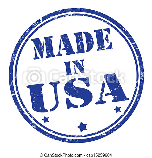 Made in USA stamp - csp15259604