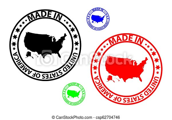 Made in USA stamp - vector - csp62704746