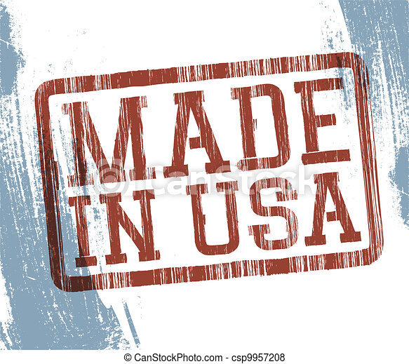 Made in USA stamp. Vector, EPS10 - csp9957208