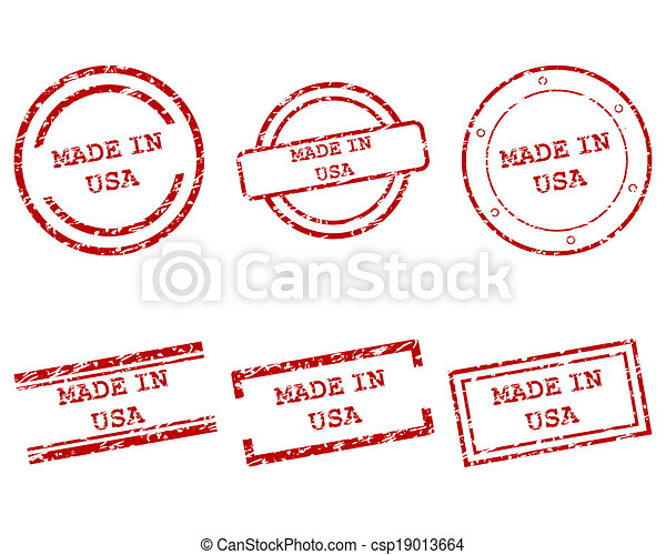Made in USA stamps - csp19013664