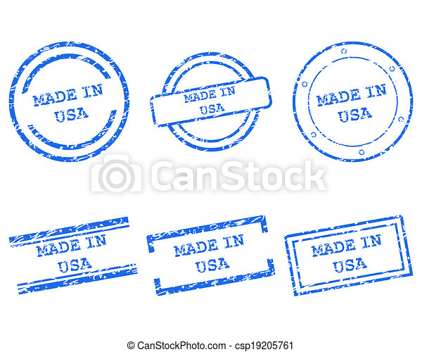 Made in USA stamps - csp19205761